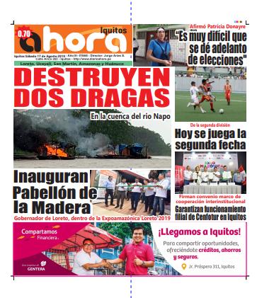 REVISTA DIGITAL Iquitos 17 de Agosto del 2019:
